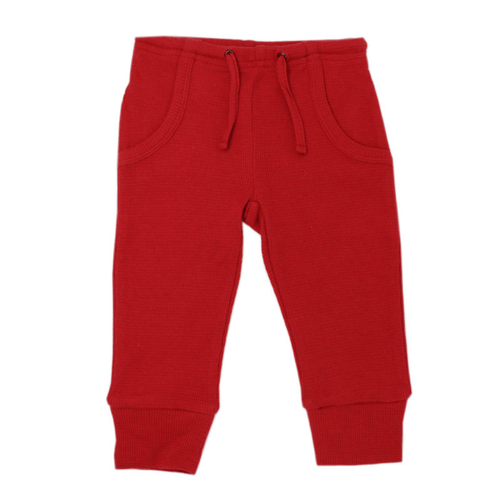 Organic Thermal Kids Jogger Pants - Ruby - Project Nursery