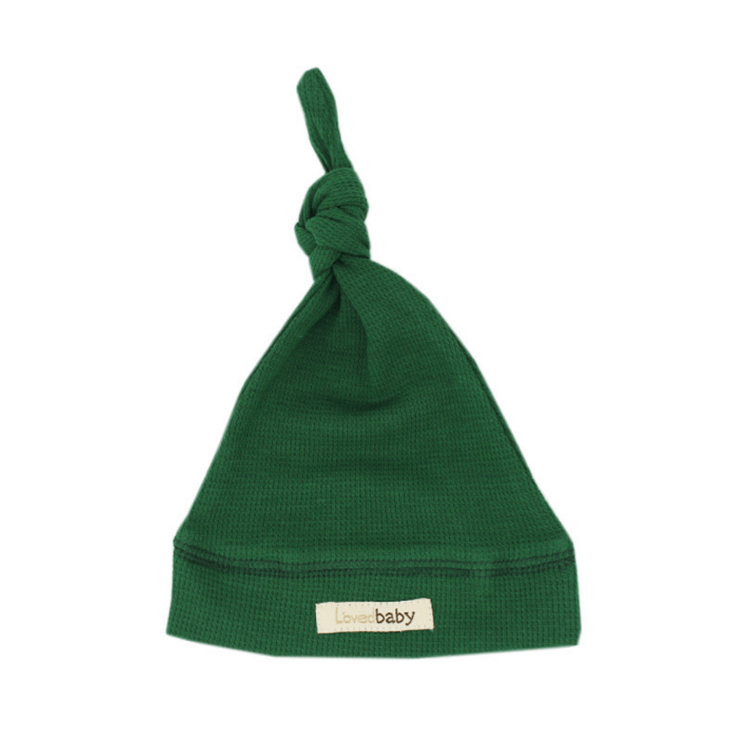 Organic Thermal Knotted Cap - Emerald - Project Nursery