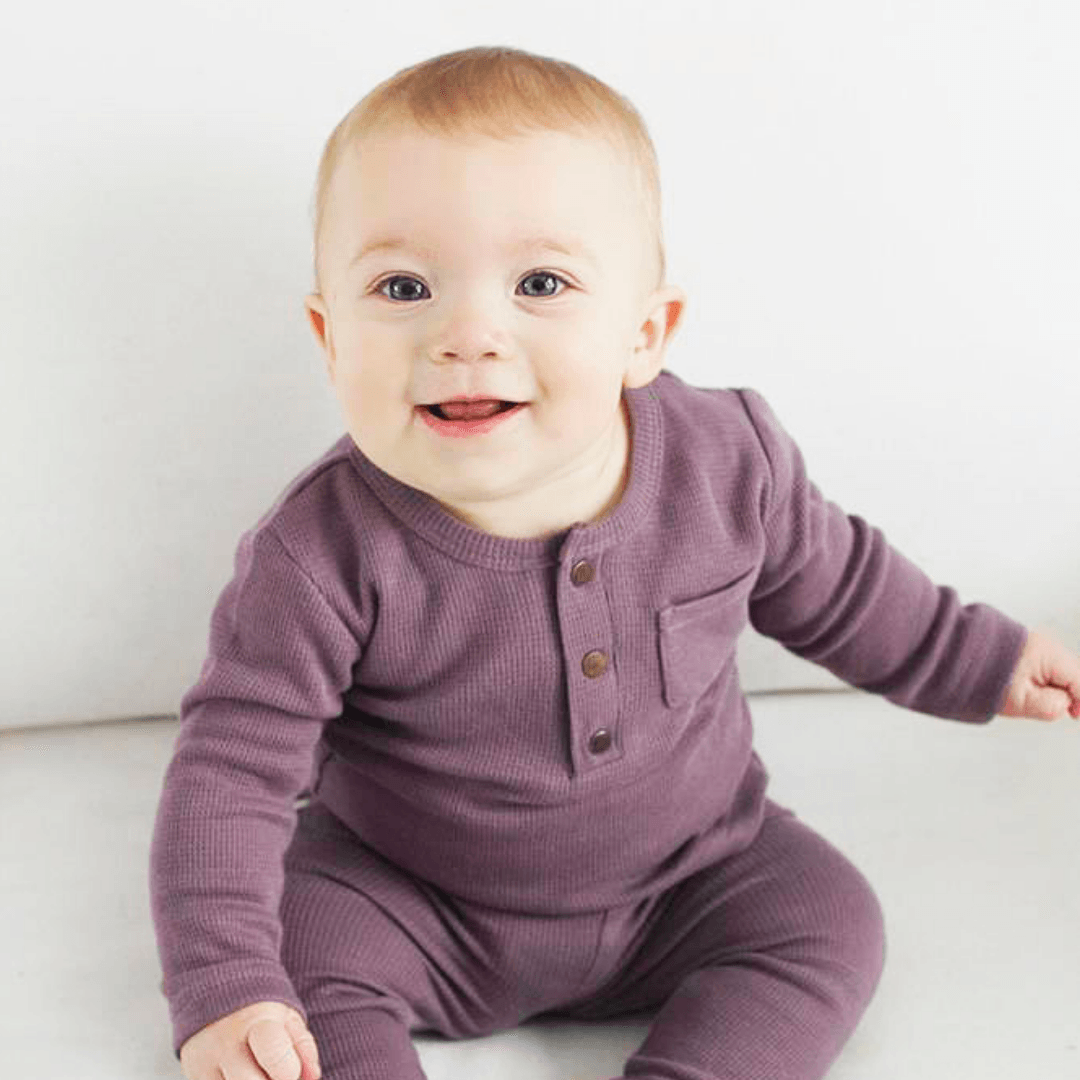 Organic Thermal Long Sleeve Shirt - Amethyst - Project Nursery