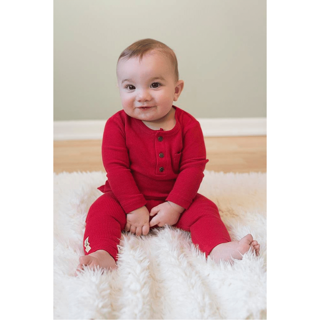Organic Thermal Long Sleeve Shirt - Ruby - Project Nursery