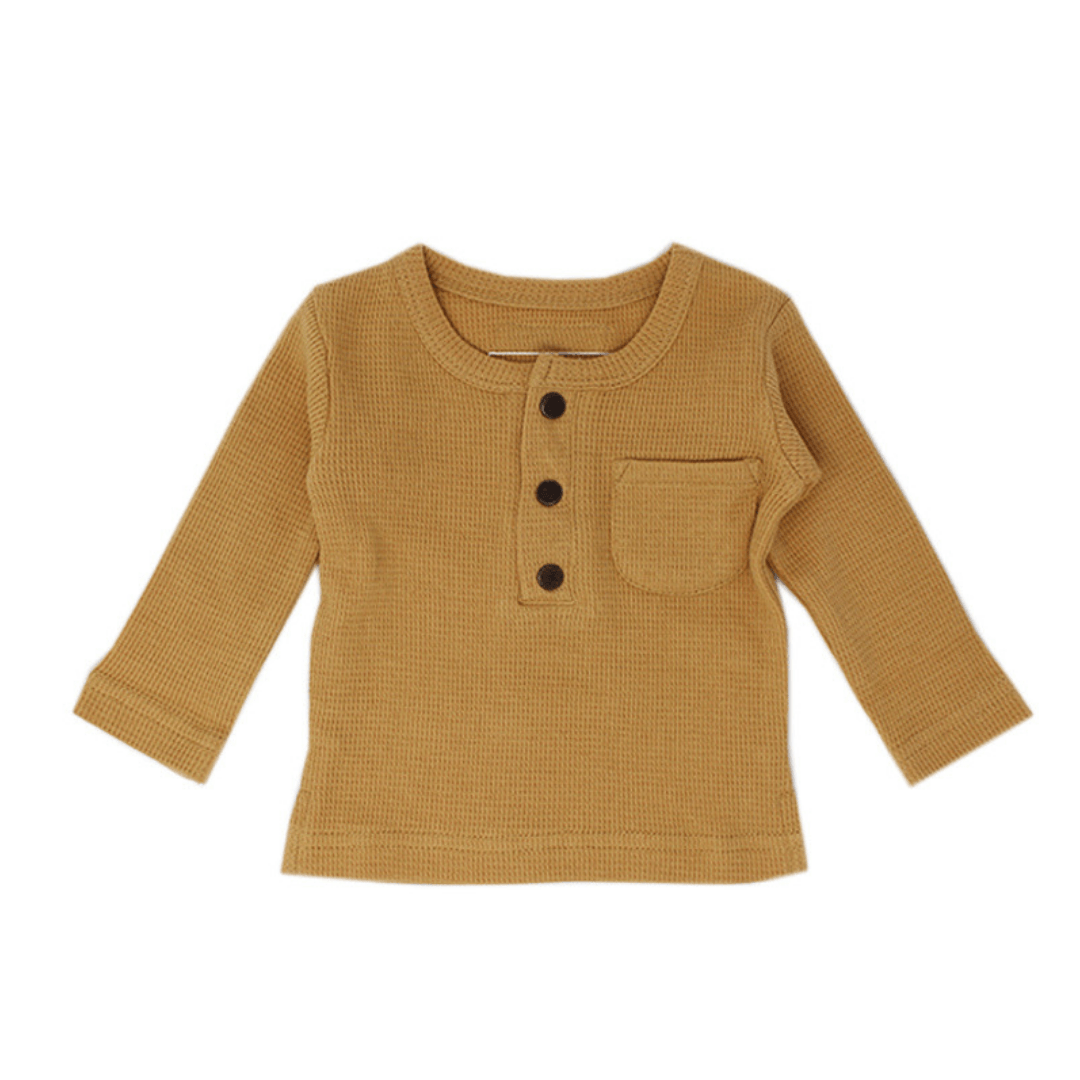 Organic Thermal Long Sleeve Shirt - Topaz - Project Nursery