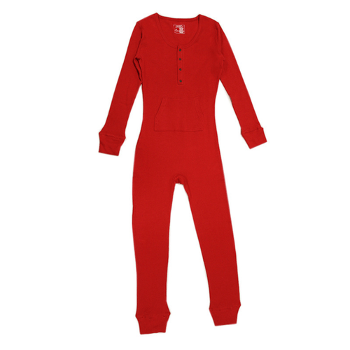 Organic Thermal Women's Onesie - Ruby - Project Nursery