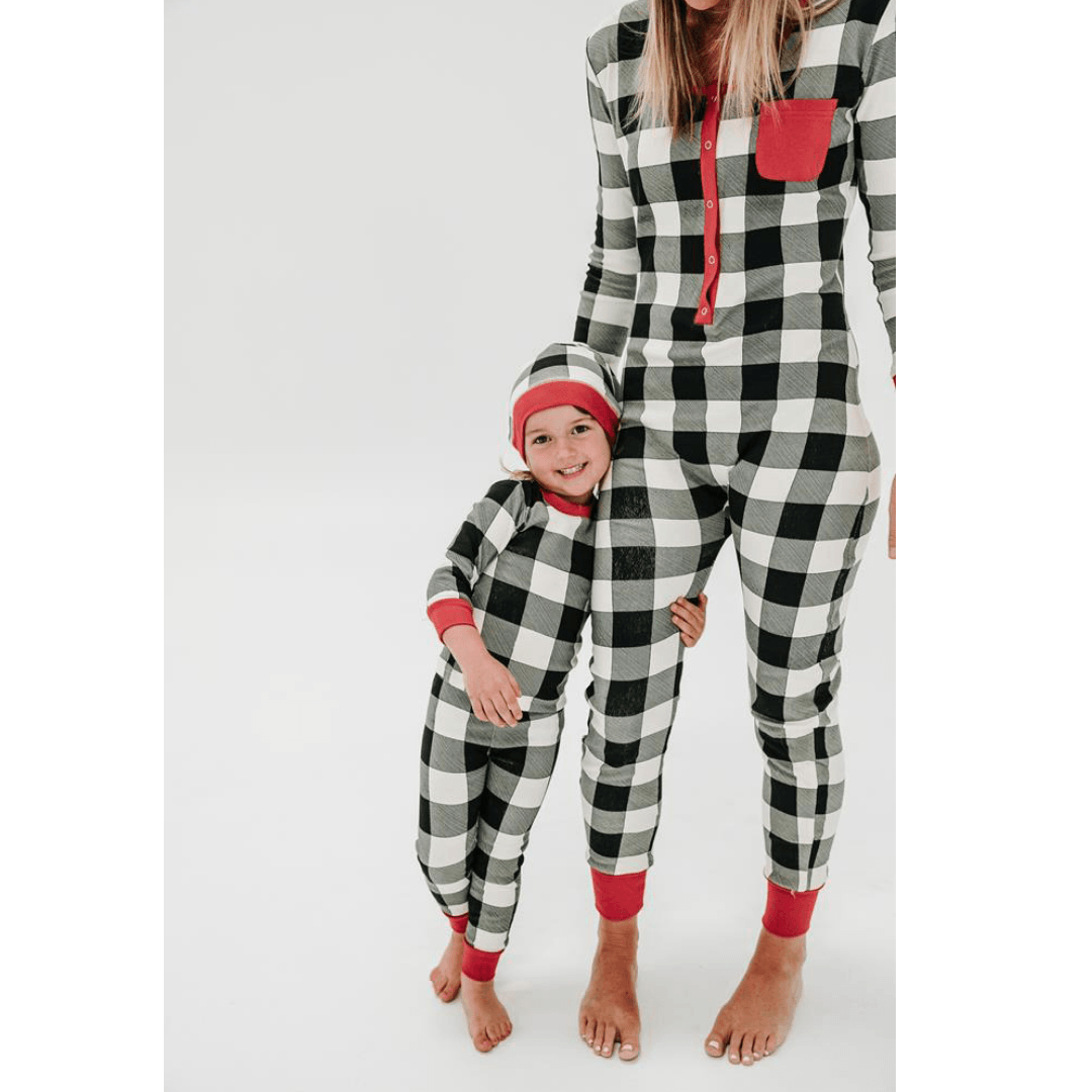 Organic Women's Onesie & Cap Set - Buffalo Check - Project Nursery