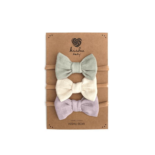 Solid Baby Bow Set - Lavender - Project Nursery