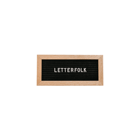 Letterfolk - Additional Sans Letter Set in White