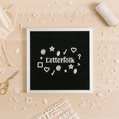 Letterfolk - The Poet Letter Board