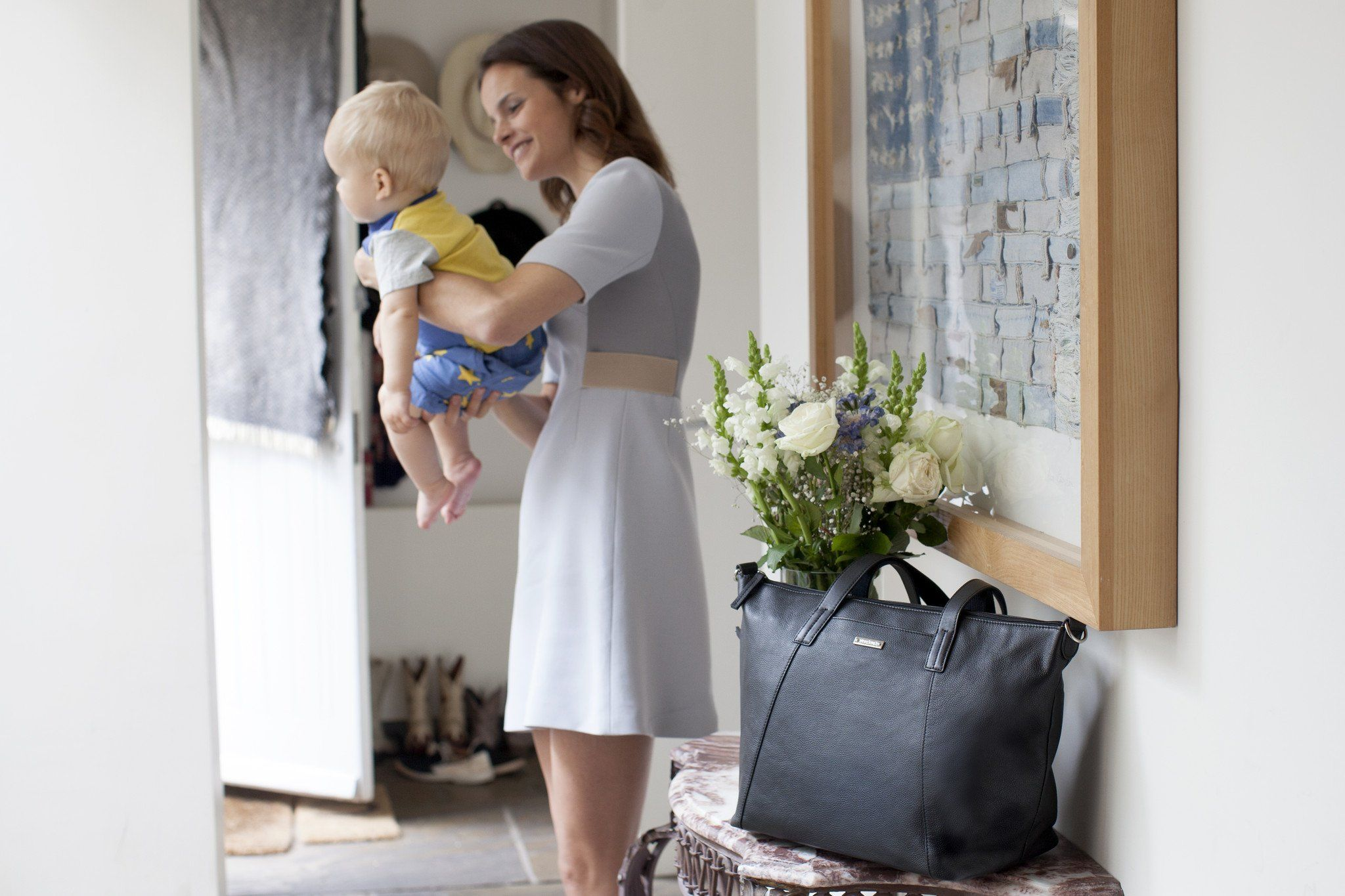 Noa Leather Diaper Bag - Project Nursery