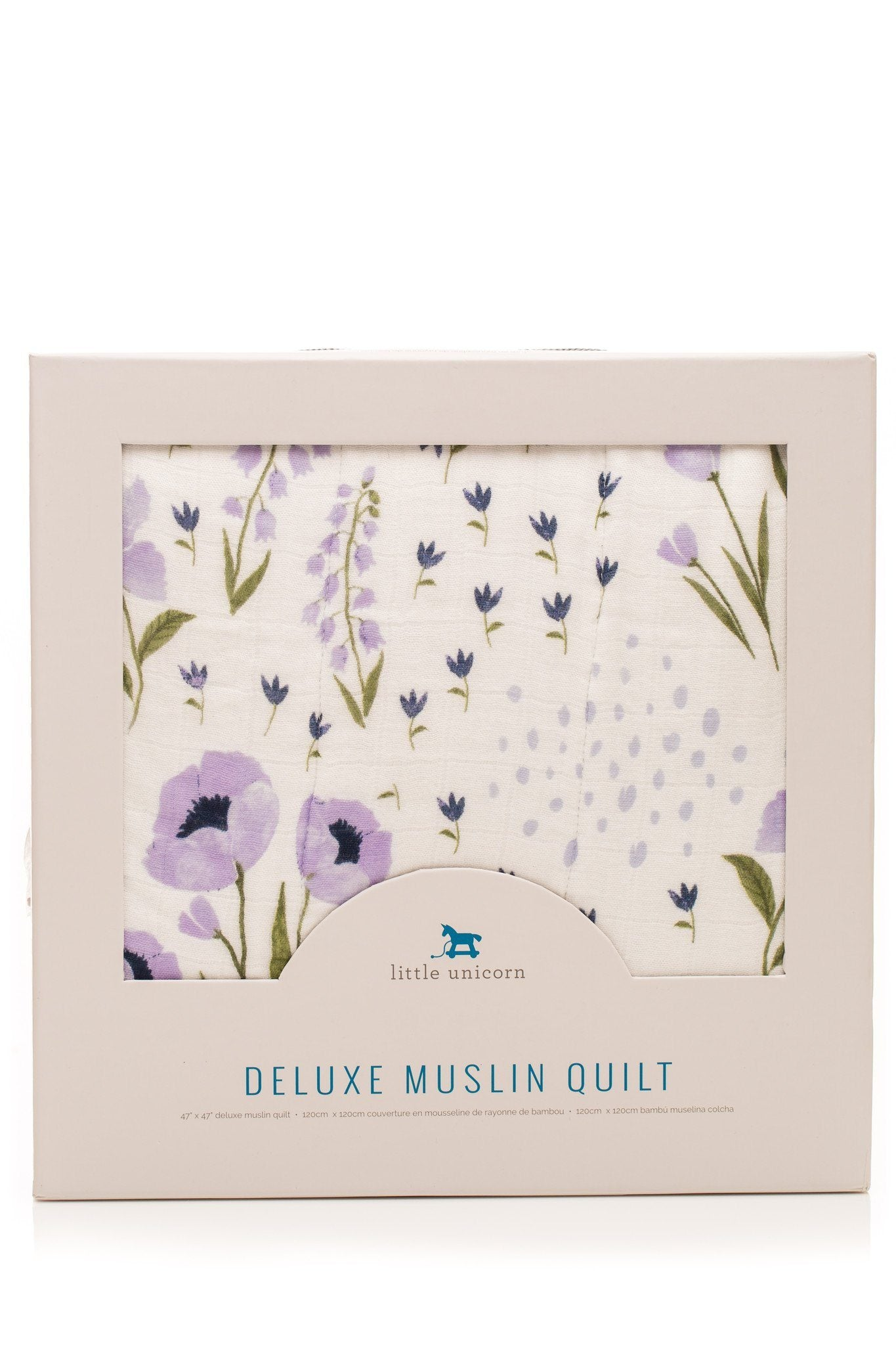 Deluxe Muslin Quilt in Blue Windflower - Project Nursery