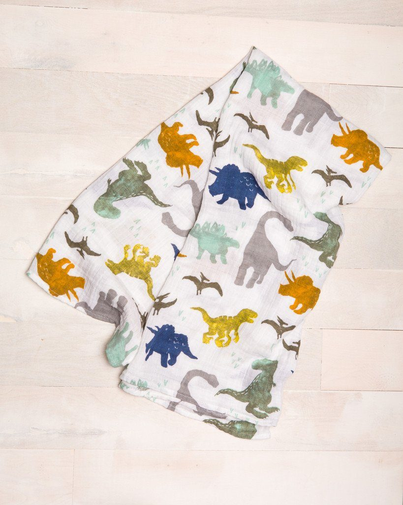 Dino Friends Swaddle Blanket - Project Nursery