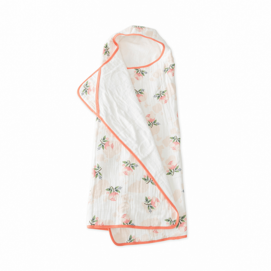 Big Kid Cotton Hooded Towel - Watercolor Rose - Project Nursery