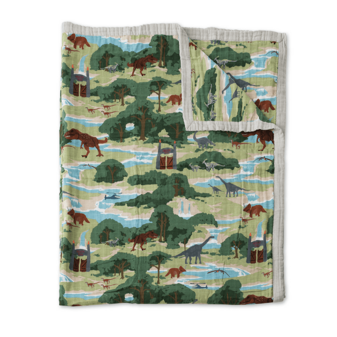 Jurassic World Big Kid Cotton Muslin Quilt - Project Nursery