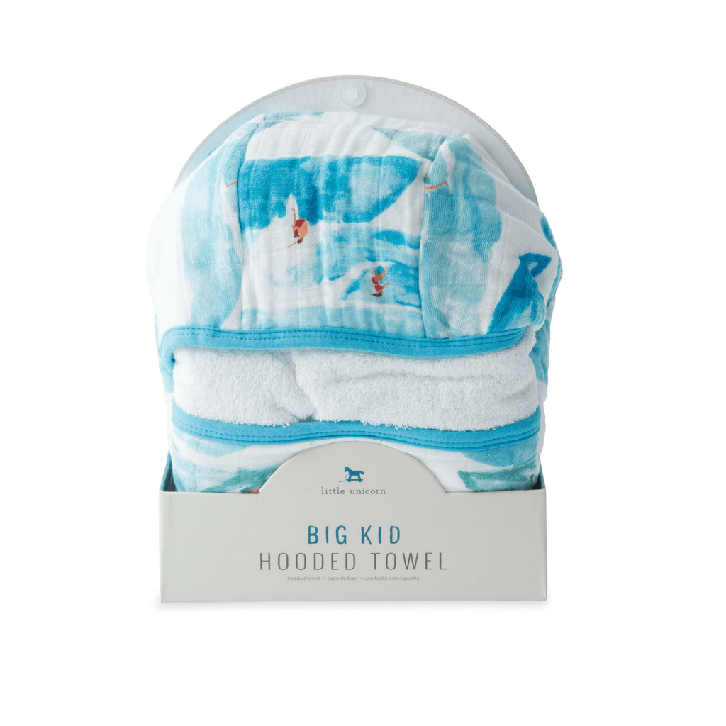 Big Kid Cotton Hooded Towel - Surf - Project Nursery