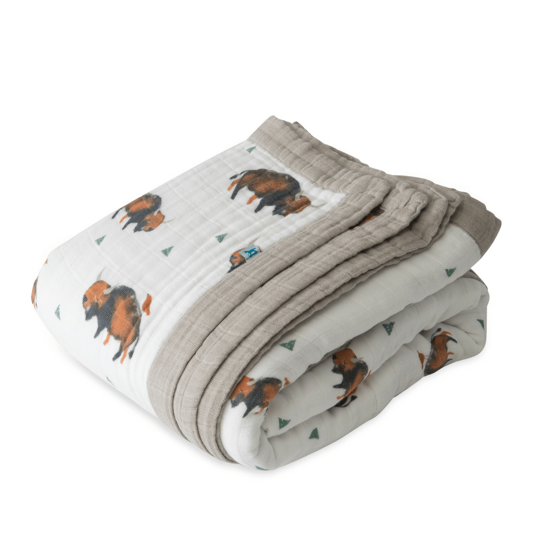 Big Kid Cotton Muslin Quilt - Bison - Project Nursery