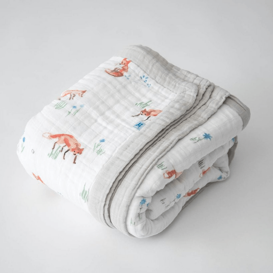 Big Kid Cotton Muslin Quilt - Fox - Project Nursery