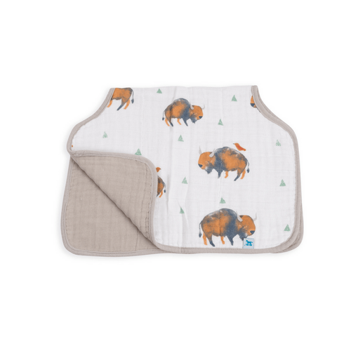 Cotton Muslin Burp Cloth - Bison - Project Nursery