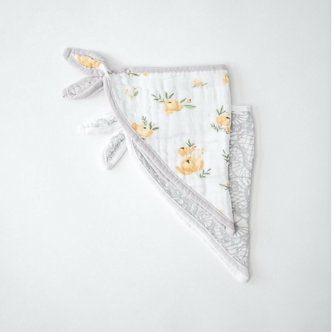 Yellow Rose Deluxe Bandana Bib Set - Project Nursery