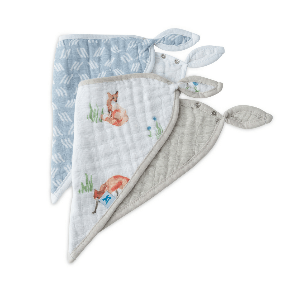 Deluxe Bandana Bibs Set - Fox - Project Nursery