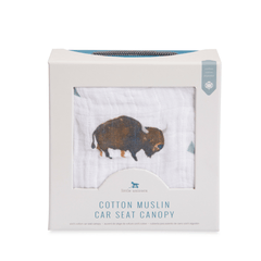 Cotton Muslin Car Seat Canopy - Bison - Project Nursery