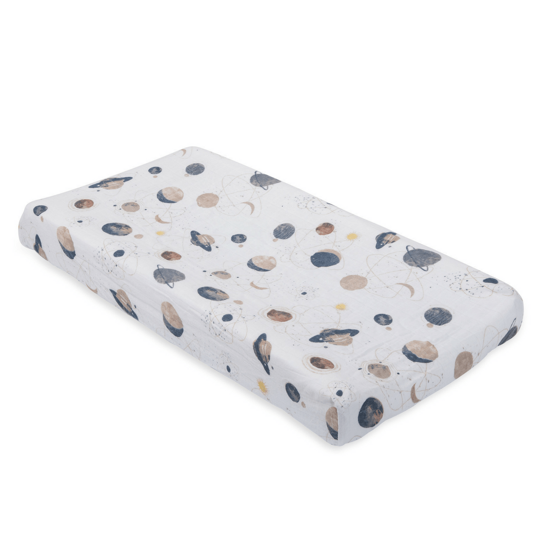 Planetary Cotton Muslin Changing Pad Cover - Project Nursery