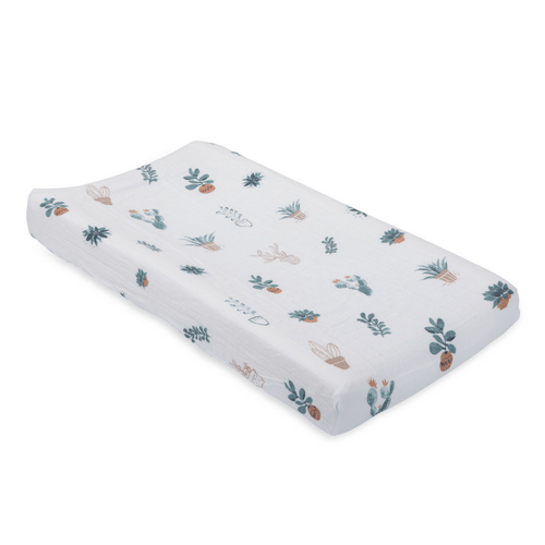 Prickle Pots Cotton Muslin Changing Pad Cover - Project Nursery