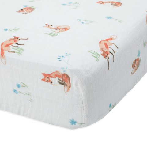 Personalized Pretty Woodland Organic Crib Sheet