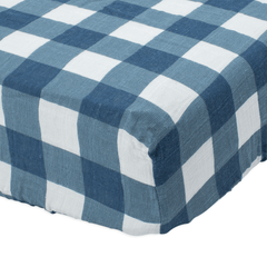 Jack Plaid Cotton Muslin Crib Sheet - Project Nursery