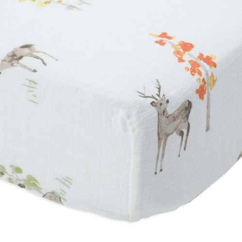 Cotton Muslin Crib Sheet in Oh Deer - Project Nursery