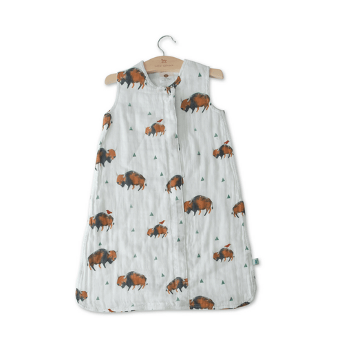 Cotton Muslin Sleep Bag - Bison - Project Nursery