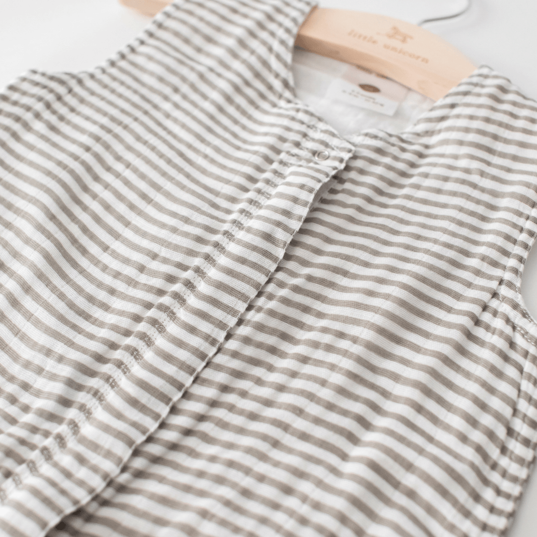 Cotton Muslin Sleep Sack - Gray Stripe - Project Nursery