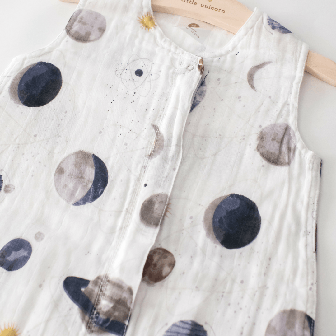Cotton Muslin Sleep Bag - Planetary - Project Nursery