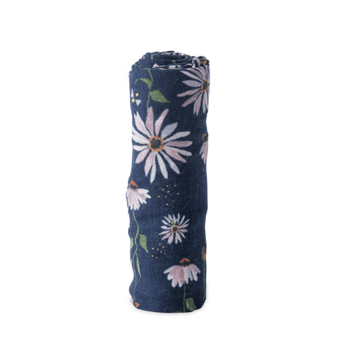 Dark Cornflower Swaddle - Project Nursery