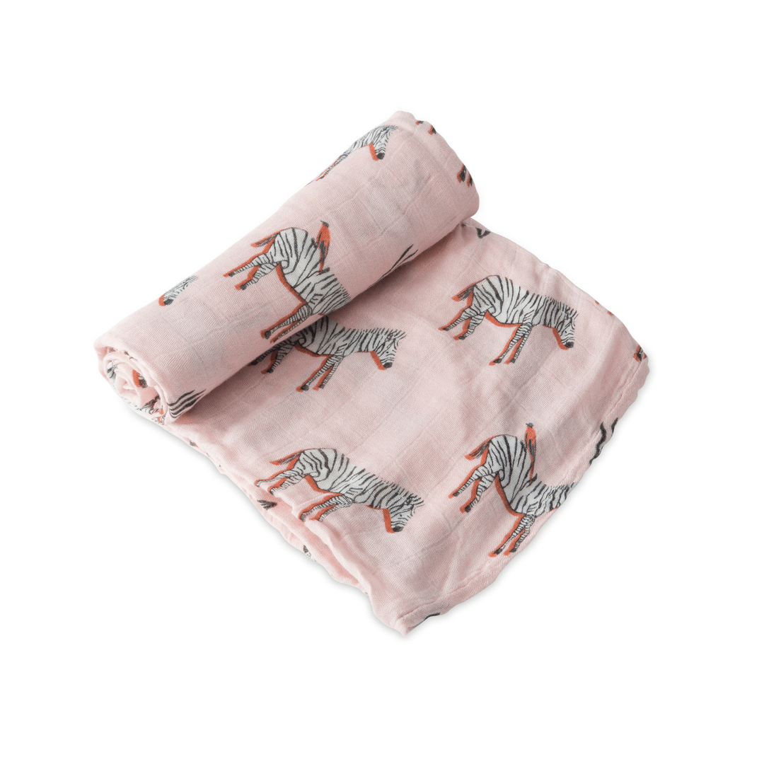 Deluxe Muslin Swaddle - Zebra - Project Nursery
