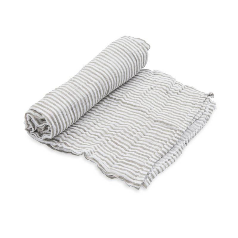 Gray Stripe Swaddle Blanket - Project Nursery