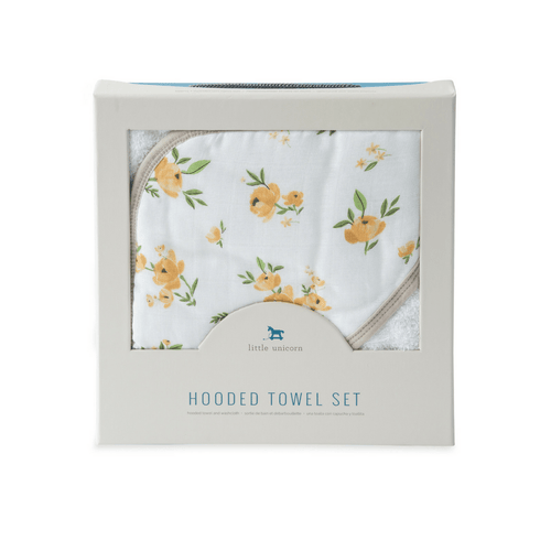 Hooded Towel Set - Yellow Rose - Project Nursery