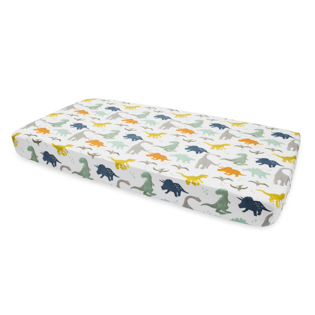 Dino Friends Percale Crib Sheet - Project Nursery