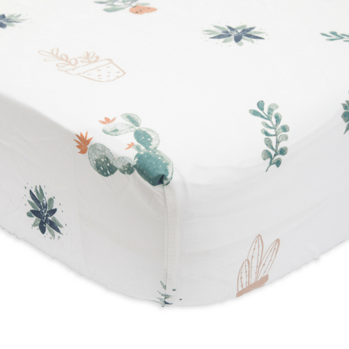 Percale Crib Sheet in Prickle Pots - Project Nursery