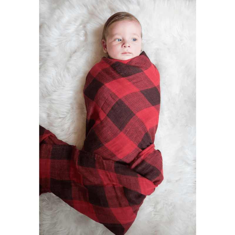 Red Plaid Swaddle - Project Nursery