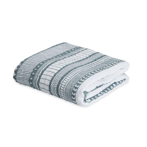 Organic Personalized Stripe Blanket