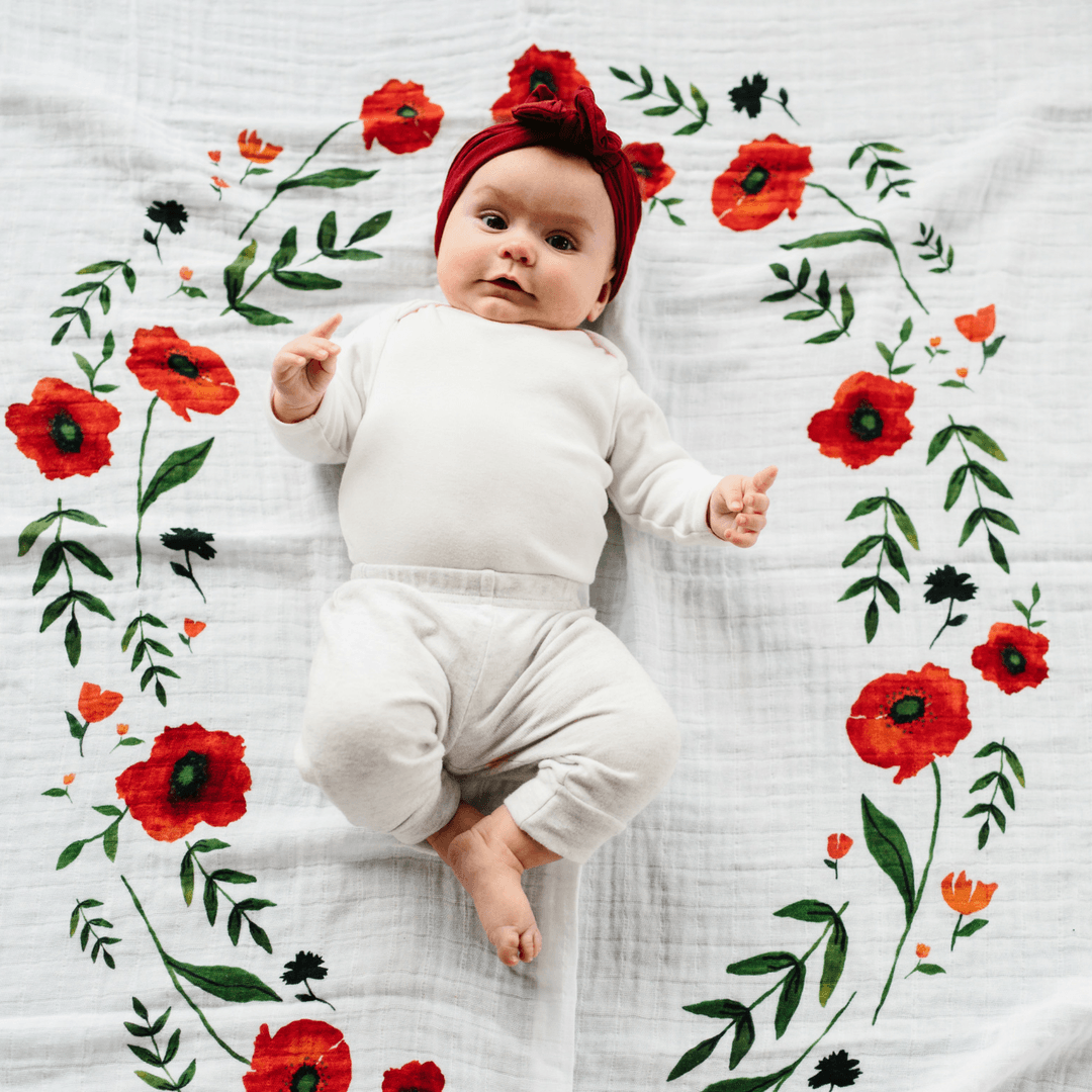 Summer Poppy Photo Blanket - Project Nursery
