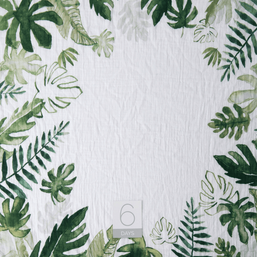Tropical Leaf Photo Blanket - Project Nursery
