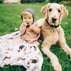 Woof Swaddle Blanket - Project Nursery