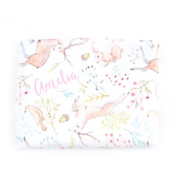 Personalized Pretty Woodland Organic Crib Sheet - Project Nursery