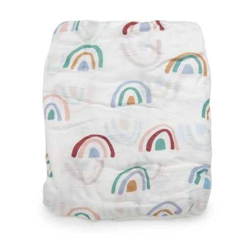 Llama Rainbow Crib Sheet - Project Nursery