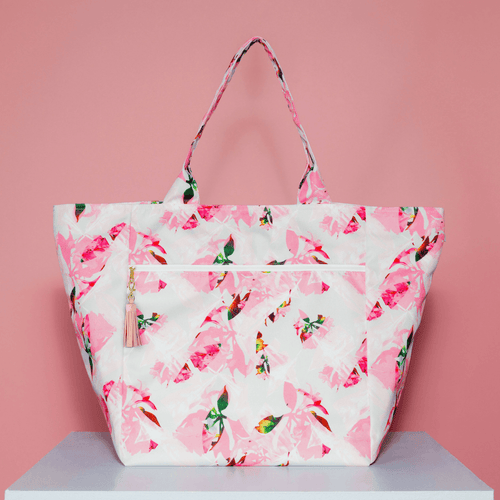 Oversized Carryall Tote in Miami Print - Project Nursery