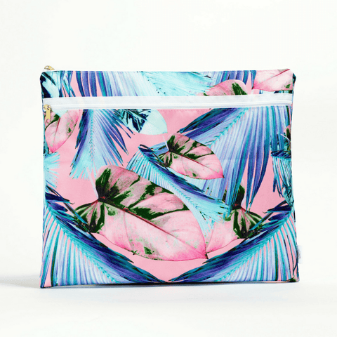 Oversized Carryall Tote in Miami Print