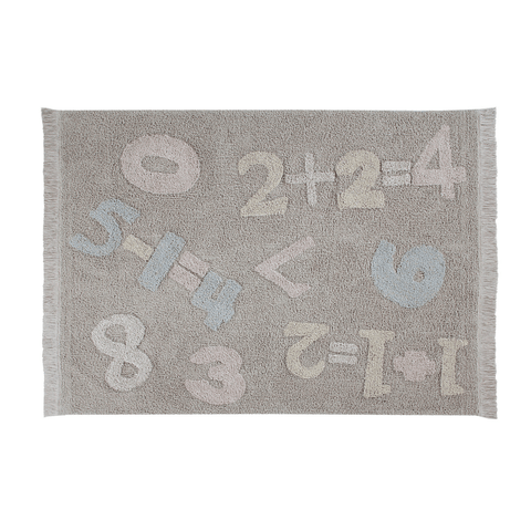 I Love Math Washable Rug