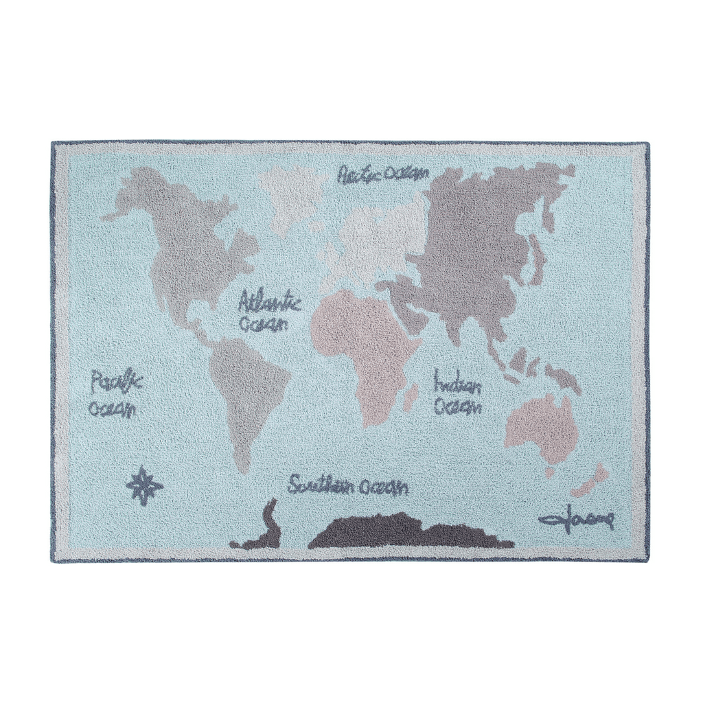 Vintage Map Washable Rug - Project Nursery