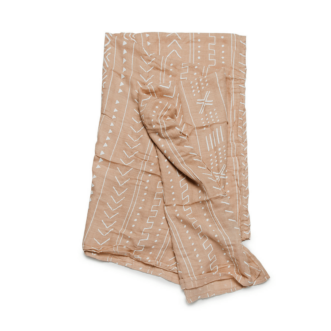 Almond Mudcloth Bamboo Swaddle Blanket - Project Nursery