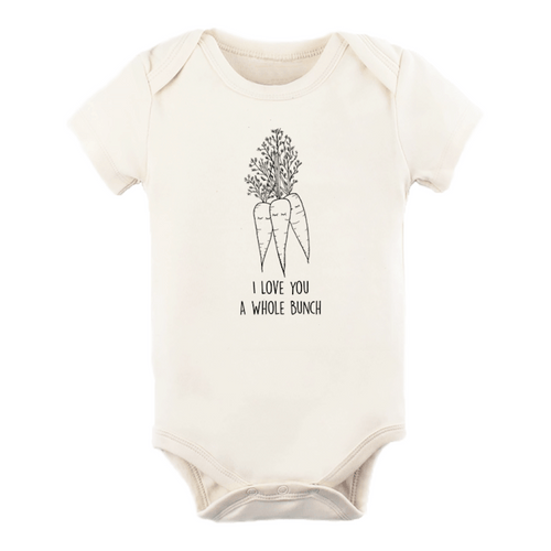 I Love You a Whole Bunch Carrots Organic Bodysuit - Project Nursery