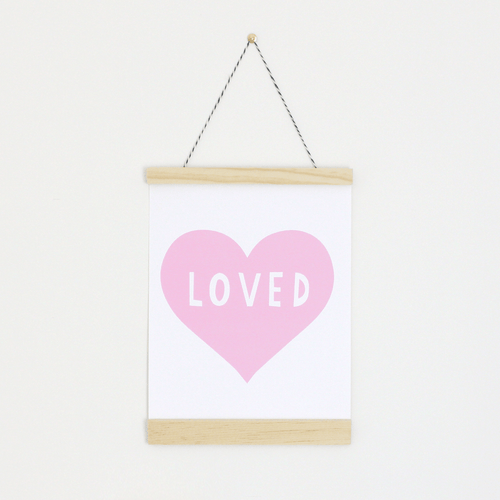 Pink Heart Canvas Banner - Project Nursery